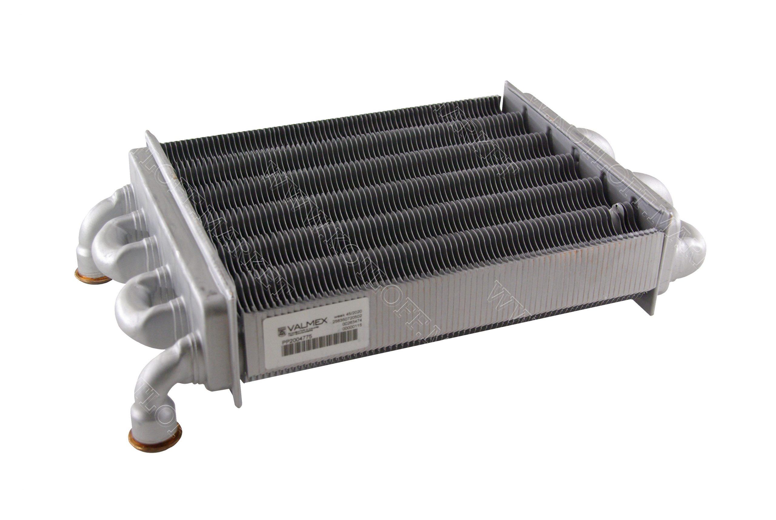 Теплообменник битермический на газовые котлы Ferroli арт. 39819540 (39820060)
