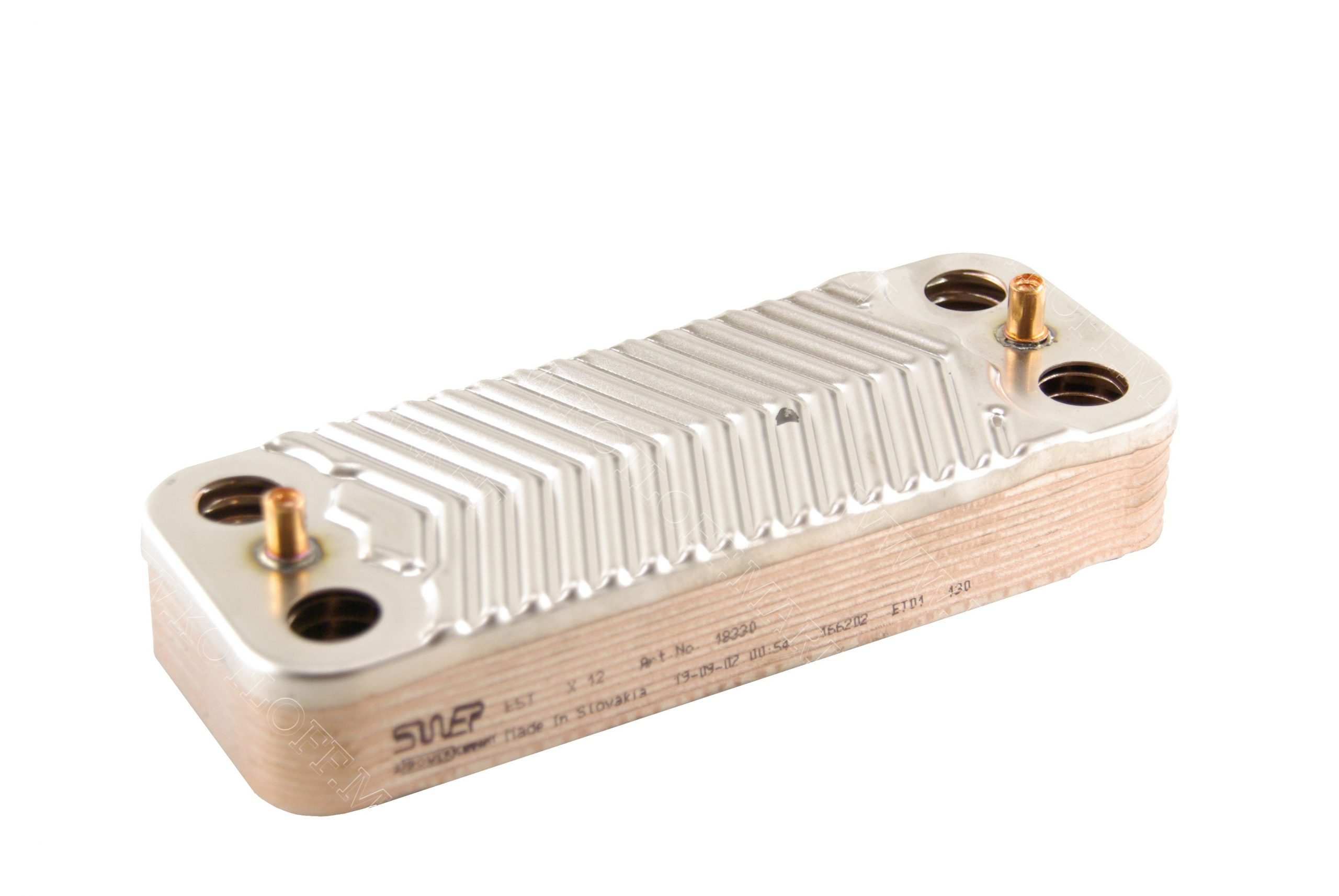 Теплообменник вторичный Swep (210X166) 16 пластин на газовые котлы Protherm арт. 20025256