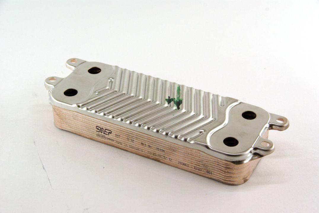 Теплообменник вторичный Swep 12 пластин на газовый котел Bosch  арт. 8718644623